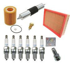 BMW M3 E46 OEM Tune-up Kit NGK Spark Plugs Mann Oil+Air+Fuel Filters Drain Plug