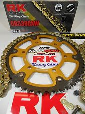 2014-2017 Yamaha FZ-09 RK GXW Gold 530 SuperSprox -1/+2t Chain and Sprocket Kit