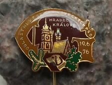 1976 Regional Hunting Dog Show Hradec Kralove Czech Hunt Hunters Hound Pin Badge