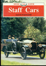 STAFF CARS BY DAVID FLETCHER (1990) SHIRE ALBUM 36-PAGE ILLUSTRATED UK BOOKLET