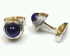 CARTIER Pair Balloon Bleu Cufflinks Silver & Blue - NEW