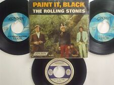 LOT OF 4 ' THE ROLLING STONES ' HIT 45's+1PS  [PAINT IT BLACK]   THE 60's!