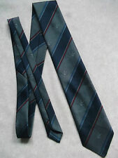 SLIM MOD Tie VINTAGE 1970's 1980's Flying Anatra Mallard Germania occidentale fatta a righe