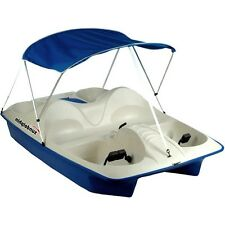 Paddle Boat Canopy Pontoon Pedal Raft 5 ppl Lake River Pond Water Sport Fishing