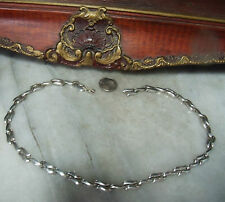 """Vintage Sterling Silver Heavy 16.75""""  Unique Modernist Mexican Choker Necklace"""