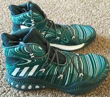 Mens Adidas Crazy Explosive Basketball Shoe Green White Size 9 B42423
