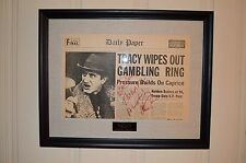 Signed Dick Tracy Movie Prop Newspaper Al Pacino Screen Used Framed COA 1990
