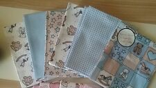 6 Pack Fat Quarter Bundle 100% Cotton Fabric , Patchwork,  BABY boy