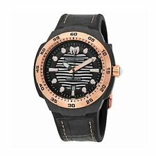 Technomarine TM-515008 Sun/Reef Men's Black Leather 45mm