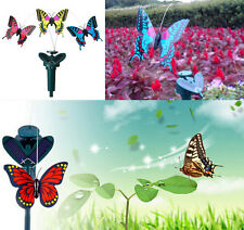 Vibration Solar Power US Dancing Flying Fluttering Butterflies Garden Decor XS1