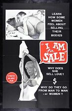I AM FOR SALE * CineMasterpieces MOVIE POSTER 1968 ADULT X RATED PORN PROSTITUTE