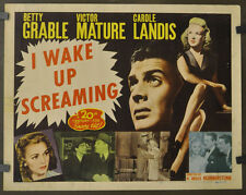 I WAKE UP SCREAMING 1948 ORIG. 22X28 MOVIE POSTER BETTY GRABLE VICTOR MATURE
