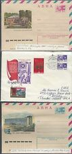 jThree Russian Letter sheets various Issues. Covers,  092