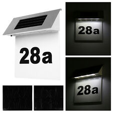 Solar Stainless Steel Home Number Illuminated Doorplate Wall 4LED Light