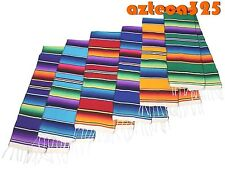 """Large Woven Sarape Table Runner 12"""" Wide-Assorted Colors"""
