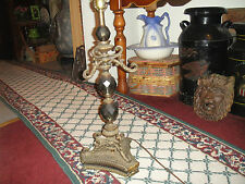 Vintage Gothic Looking Victorian Style Lamp-Crystals In Center-Brass Art Deco