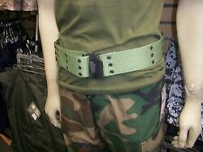 G.I. Style Pistol Belt with Metal Buckles OD GREEN BELTS SIZE FIT WAIST 30 TO 40