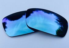 NEW POLARIZED POWDER BLUE CUSTOM MIRRORED REPLACEMENT OAKLEY GASCAN LENSES