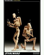 Sideshow  - STAR WARS -  1:6 Scale figure - BATTLE DROID - 12 inch 1/6- 2 pack