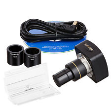 AmScope MU500-CK 5MP USB Microscope Camera + Software + Calibration Kit