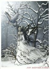 Nene Thomas Print 5x7 Lithograph Queen of Owls Winter Snow Ice Owl Snowy NEW