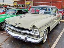 Old Photo.  Cream 1955 Plymouth Automobile