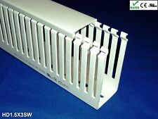 "1 Set-1.5""x3""x2m Thin Slot High Density White Wire Ducts/Cable Raceway & Covers"