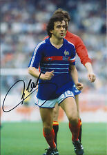 Michel PLATINI Signed Autograph 12x8 Photo AFTAL COA France Captain AUTHENTIC
