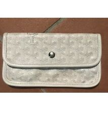 Authentic Goyard  White  Wallet From ST. Louise PM Bag Brand Accessories
