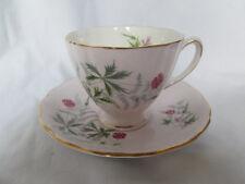 Vintage Colclough Pink Flowers Floral Tea Cup & Saucer Gold Trim