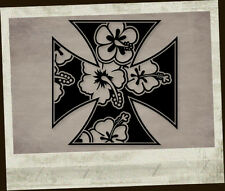 Hawaii Iron Cross Aufkleber Sticker Adesivo Autocollant Pegatina Eisernes Kreuz