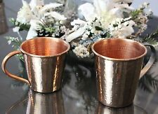 Sertodo Copper Moscow Mule Mug, 12 Fluid Ounce, Hammered Copper, Set of 2