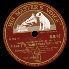 Louis Armstrong & His All stars please stop Playing Blues....../before long x406