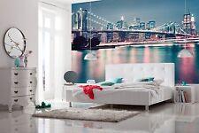 Luxe papier peint papier peint photo neon new york lumières chambre décoration 368x254cm