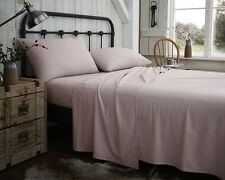Flannelette 100% Brushed Cotton Sheets in 6 Colours