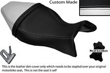 BLACK & WHITE CUSTOM FITS BUELL X1 LIGHTNING 1200 98-02 DUAL SEAT COVER