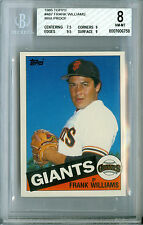 1985 TOPPS MINI # 487 FRANK WILLIAMS BGS 8  RARE 100 MADE  *