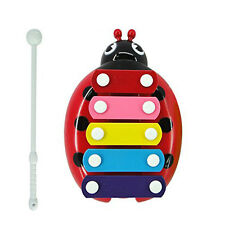 Child Kids Cute 5 Note Beetle Xylophone Wisdom Bug Musical Toys Beetle Gift Wood