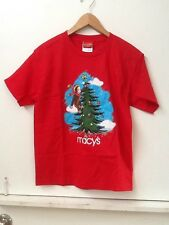 New Curious George Adventures Holiday Winter Macy's Christmas Tree T-Shirt Sz L