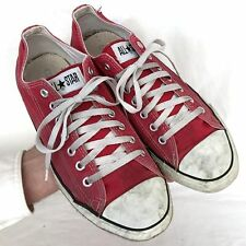 Vintage USA-MADE Converse All Star Chuck Taylor shoes size 10 red
