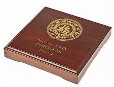 Lunar Serie II Münzbox /Box / Etui / Münzkassette für 12x 1/10 Oz Gold - HOLZ