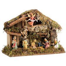 Weihnachtskrippe Holz Krippe 36cm Figuren Weihnachten Bethlehem Christi Jesus