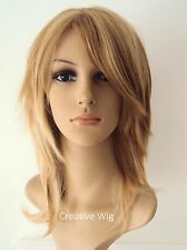Medium Layers Elegant Synthetic Wig in Taylor Swift Golden Blonde Color PW12 26K