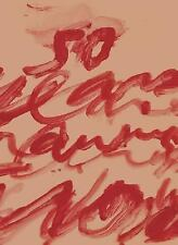 Cy Twombly : Fifty Years of Work on Paper by Cy Twombly (2005, Hardcover)