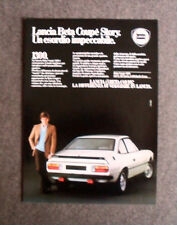 [GCG] L098- Advertising Pubblicità -1982- LANCIA BETA COUPE' STORY , 1300