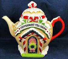 Peppermint Tea Shop Porcelain Tea Pot Kitchen Decor