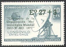 Chile 1973 Weather/WMO/IMO/Communications Satellite/Radio Dish/Space 1v (n42069)