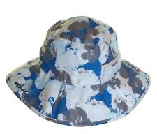 Bnwt Womens Oakley Hibiscus Camo Bucket Hat Cap Sun Beach Blue S/M Reversible