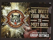 2013-14 Chicago Wolves Group Ticket Brochure/Schedule