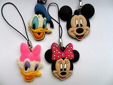 Set Of Four Rubber Disney Mickey Mouse & Friends  Christmas Tree Decorations